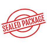 Sealed Package rubber stamp Stock Photo