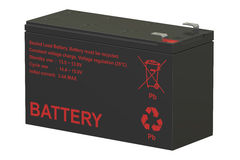 Sealed UPS batteries; 3D rendering. Sealed UPS batteries, 3D rendering on white background Royalty Free Stock Photography