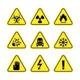 Señales de peligro del peligro Imagen de archivo libre de regalías