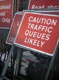 Señales de tráfico de camino Imágenes de archivo libres de regalías