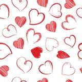 Sealess σχέδιο καρδιών αγάπης διακοσμητική ημέρα βαλεντίνων καλή Απεικόνιση αποθεμάτων