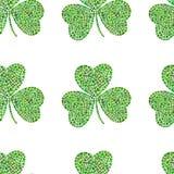 Sealess-Muster für St- Patrick` s Tag Stockbild