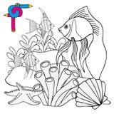 Sealife di immagine di coloritura Illustrazione di Stock
