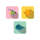 Sealife Logo Template Royalty Free Stock Images