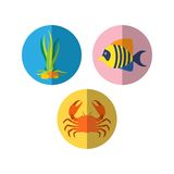 Sealife Logo Template Royalty Free Stock Photo