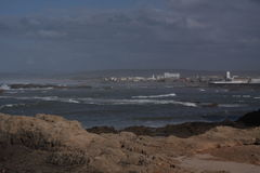 Sealife. View of Essaouira from the fortress stock photography