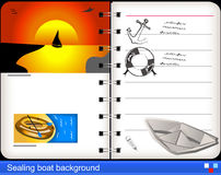 Sealing boat background Royalty Free Stock Images