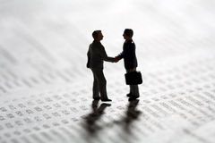 Sealing a business transaction with a handshake Stock Photo