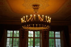 Sealing lamp. Historic hall with a classical ornaments Stock Photo