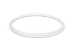 Sealing ring for pressure cooker. On white background royalty free stock photo