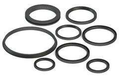 Sealing rings Stock Photo