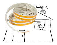 Sealing tape for Windows and doors in a roll Royalty Free Stock Image
