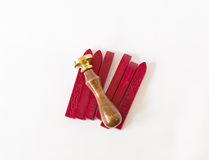 Sealing wax candles isolated Stock Images