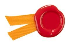 Sealing wax with ribbons. Royalty Free Stock Image