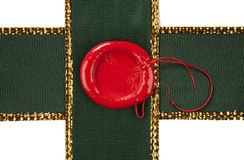 Sealing wax with ribbons Royalty Free Stock Photo