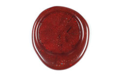 Sealing wax seal Royalty Free Stock Photo