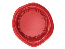 Sealing wax stamp. For certificates Stock Image