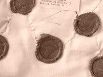 Sealing wax stamps Royalty Free Stock Image