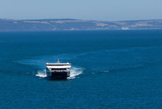Sealink - Känguru-Inselfähre, die dem Festland sich nähert Lizenzfreie Stockfotos