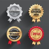 Seals & badges design. Come with layers Stock Photography