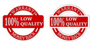 Seals with inscriptions money back guarantee Stock Photos