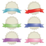 Seals with ribbon banners Royalty Free Stock Image