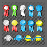 Seals and Ribbons Royalty Free Stock Photos