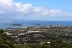 Sealy punktu obserwacyjnego nieba Lasowy molo przy Coffs schronieniem Obraz Royalty Free