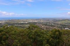 Sealy utkik Forest Sky Pier på Coffs Harbour Arkivfoton