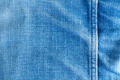 Seam of denim fabric. Texture and seam of denim fabric Royalty Free Stock Photography