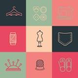 Seam Icons Pack Stock Photo