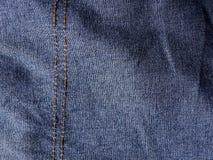 Seam jean texture. Close up seam jean texture stock images
