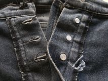 Seam jean texture. Close up seam jean texture stock photos