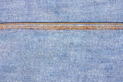 Seam of jeans Royalty Free Stock Photography