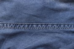 Seam on the jeans Stock Photo