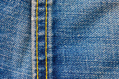 Seam on the jeans Stock Photography