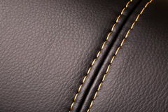 Seam on leather. Product (close up stock photography