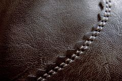 Seam of leather Royalty Free Stock Images