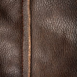 Seam on leather product Royalty Free Stock Photos