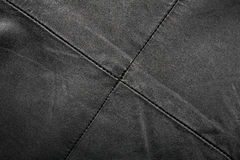 Seam on leather product Stock Image