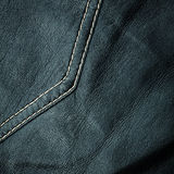 Seam on leather product Royalty Free Stock Photography