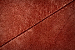 Seam on leather product Stock Photo