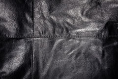 Seam on leather product Royalty Free Stock Photo