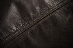 Seam Line on Leather Jacket, Detail Royalty Free Stock Image