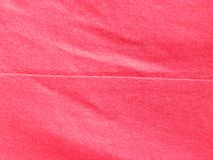 Seam on red cloth. Seam on red color cotton cloth stock images