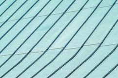 Seam Roof Cover from Galvanized Steel. Background of Seam Roof Cover from Galvanized Steel. Pitched Roof Texture. Copy Space royalty free stock images