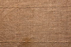 Seam on sackcloth Royalty Free Stock Photo