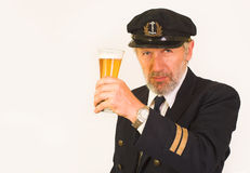 Seaman's invitation to have a glass of beer Stock Photos