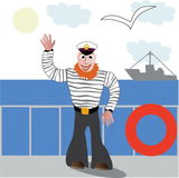 Seaman. A vectorial image of seaman Royalty Free Illustration