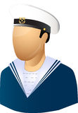 Seaman. Ship master with technical equipment Stock Image